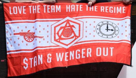 fans want wenger out